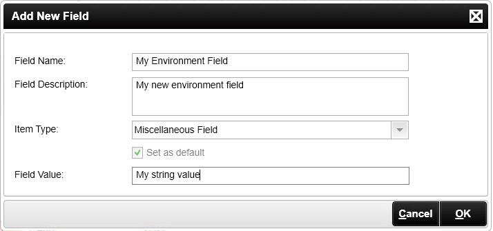 Image of the Add New Field dialog